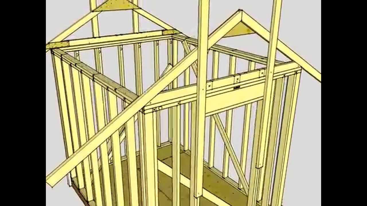 shed diagram 8x12 [ 1280 x 720 Pixel ]