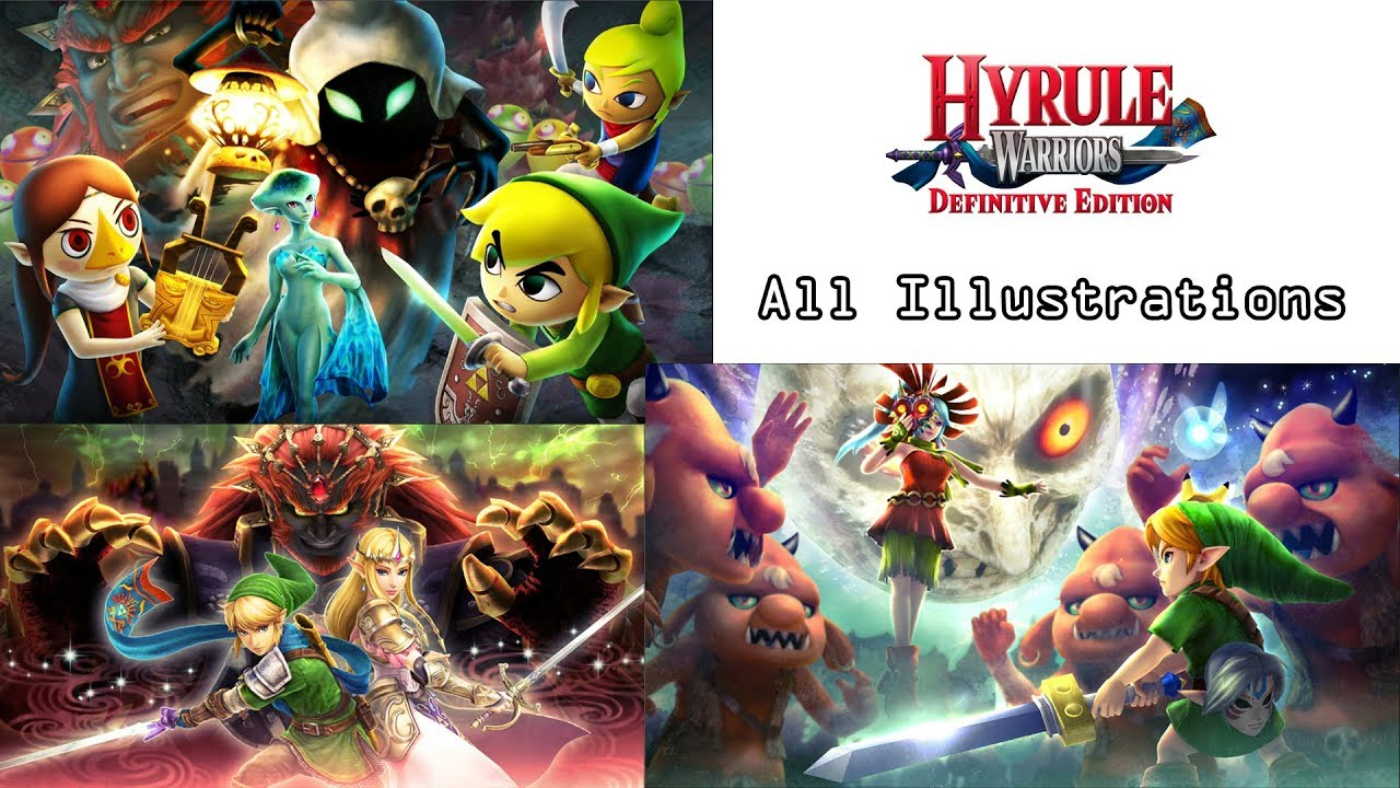 Hyrule Warriors Definitive Edition All Illustrations Youtube