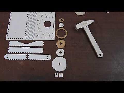 Assembling wooden wallet euro-size