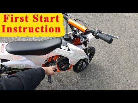 Mini Dirt Bike - First Start Instructions - Pocket Bike 49cc Gazelle