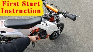 Mini Dirt Bike - First Start Instructions - Pocket Bike 49cc Gazelle
