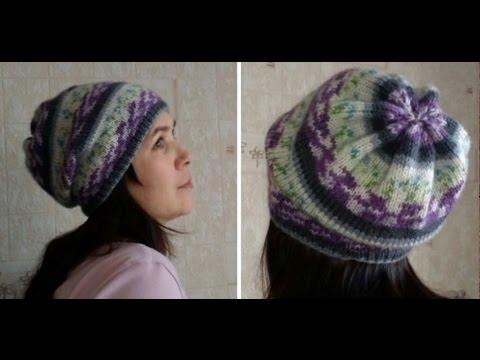 Вязание спицами шапок из пряжи ализе 25
