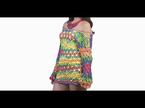 CROCHET BEACH COVERUP -  EASY AND FAST - I KNIT WITH LAURA CEPEDA