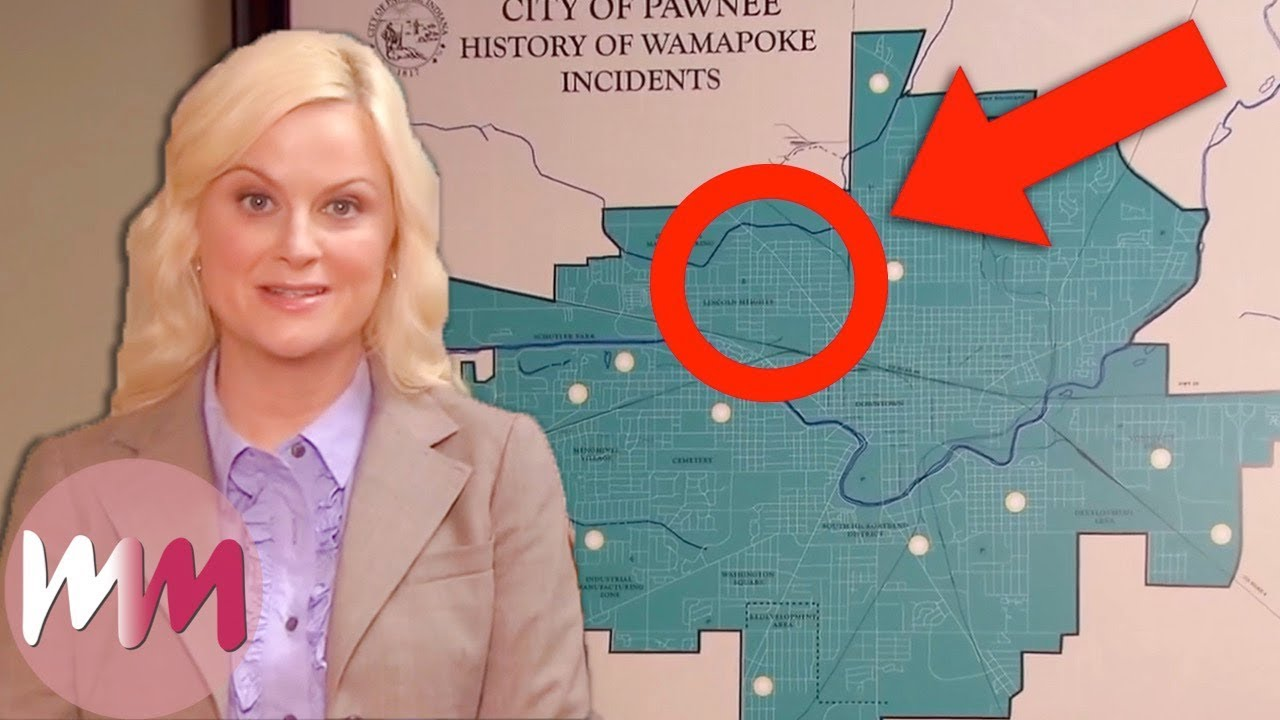 Top 10 Crazy Parks and Recreation Details You Missed Map Of Pawnee Attocities on