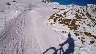 GoPro: Mountain bike in the snow, Italy Alps