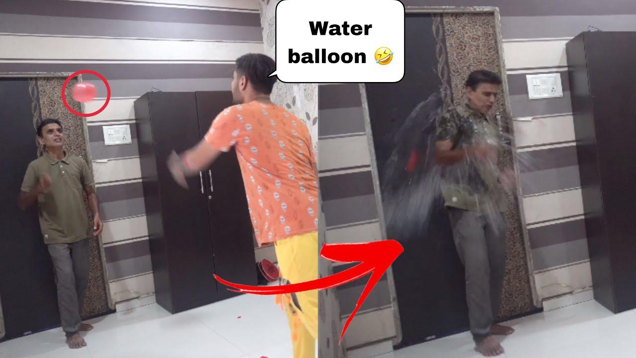 ICE WATER BALLON PRANK ON DAD 😱 // HOLI PRANK 🤣 // 2021 // prank in india