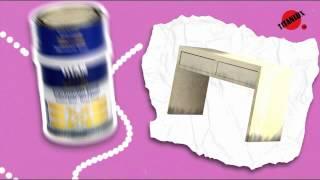 Pintar sobre melamina, aluminio o galvanizado
