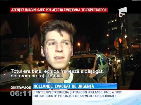 Atac terorist în Franța | Paincă pe Stade de France. Președintele Francois Hollande, evacuat de