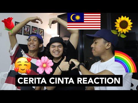 CERITA CINTA - Kimi$parkz Ft Nonsenselaa & Eirharm ( OFFICIAL LYRICS ) - MALAYSIAN REACTION
