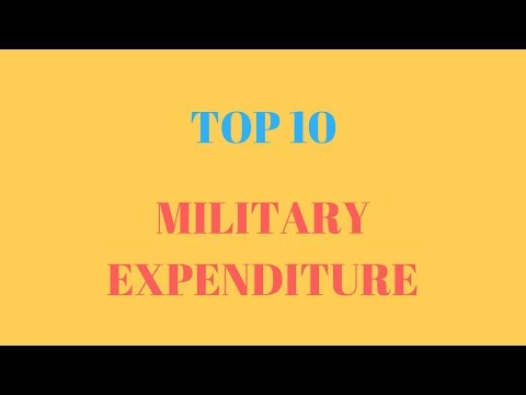 Top 10 countries by military expenditure
