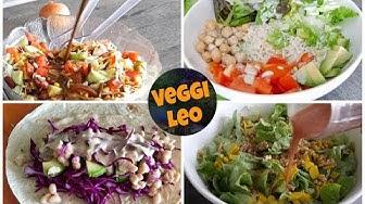 4 Salat-Dressings ohne Öl