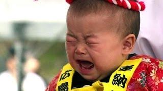 Japonya'da 'ağlayan sumo' yarışması - BBC TÜRKÇE