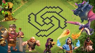 Clash Of Clans Town Hall 8 Defence Trophy Base Layout Defence Strategy