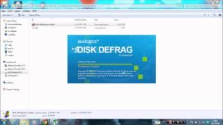 วิธีลงโปรแกรม  Auslogics Disk Defrag Professional