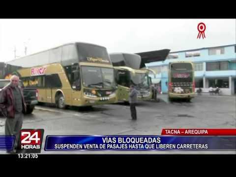 Arequipa: viajes a Lima se suspenden por cierre de la Panamericana Sur