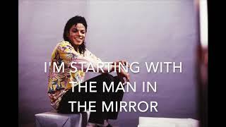 Man in the mirror - Michael Jackson - Karaoke female version high (+2)