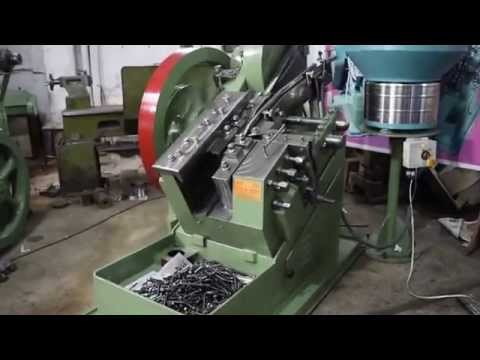 Bolt Making machine Roll Thread Machine fully Automation with vibrator bowl feeder