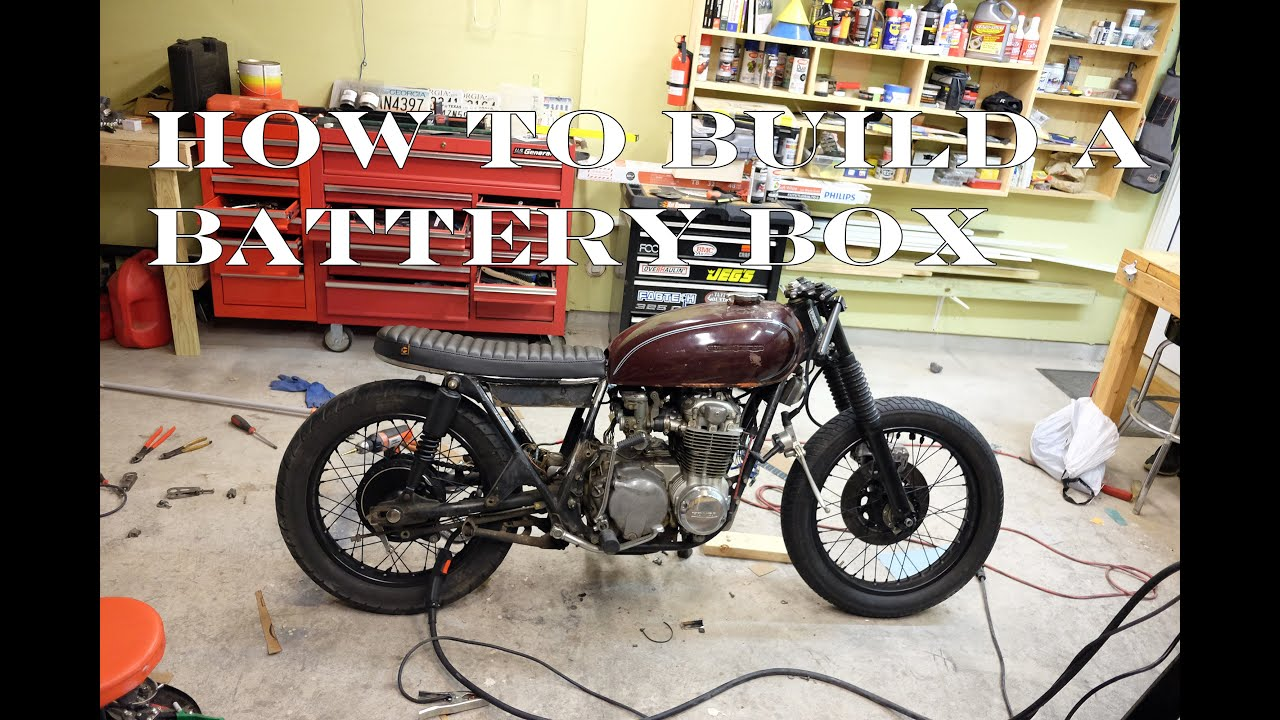How To Build A Cb550 Cafe Racer    Brat   Part 6 Building A Battery Box
