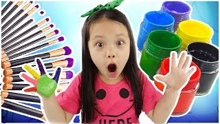 Learn Colors with Baby Hand Body Paint Finger Family Song Nursery Rhymes