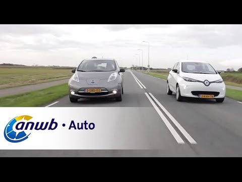 Nissan Leaf Vs Renault Zoe Dubbeltest Anwb Auto Youtube