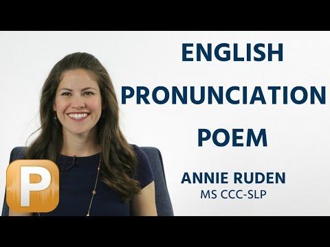 English Pronunciation Poem | The Chaos by Dr. Gerard Nolst