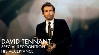 David Tennant's NTA Special Recognition - His Acceptance