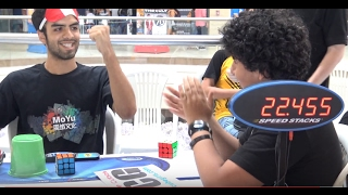 Gianfranco Huanqui WORLD RECORD Rubik's Cube BLD Average: 24.12