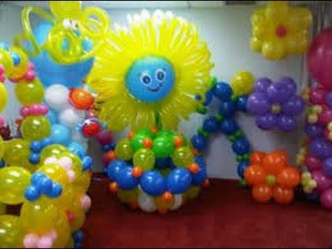 Como hacer adornos con globos youtube for Decoracion verano para jardin infantil