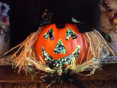 Fiber Optic Pumpkin Jack O Lantern Halloween Decoration Youtube