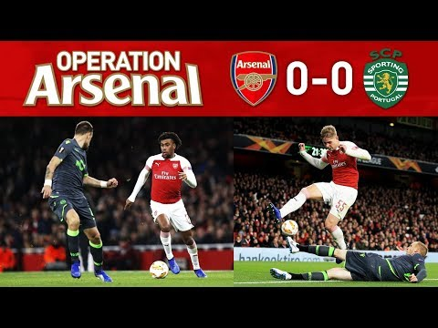 ARSENAL 0-0 SPORTING - GET WELL SOON DANNY WELBECK!