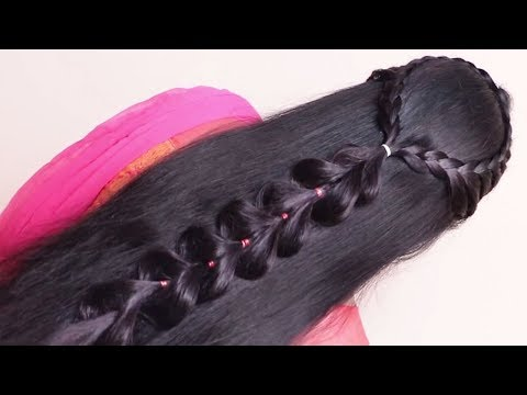 Wedding guest hairstyle in just 2 minutes    Beautiful hairstyles for long hair    hair style girl thumbnail