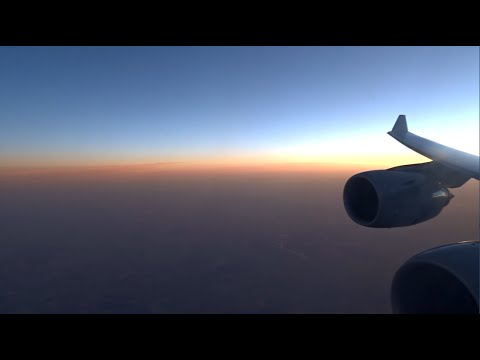 Lufthansa Airbus A340-600 - from Frankfurt to very windy Tehran
