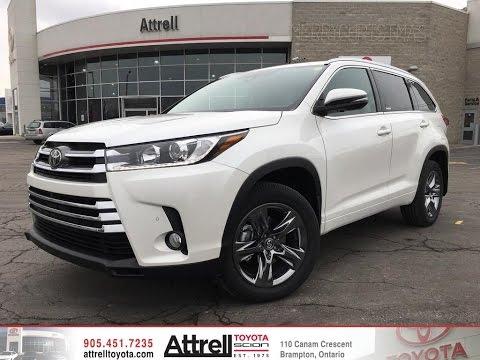 2017 Toyota Highlander Awd Limited Brampton On Attrell