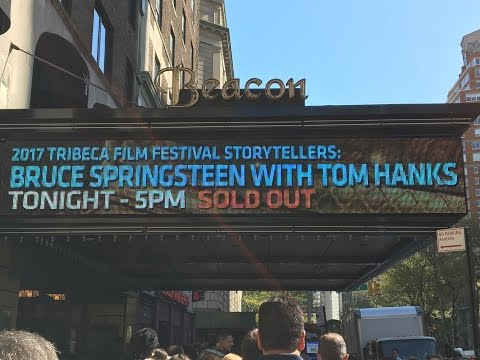 Bruce Springsteen with Tom Hanks 2017 Tribeca Film Festival Storeytellers