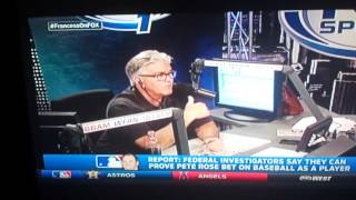 Mike Francesa :Pete Rose  Bet on Baseball as a player !!