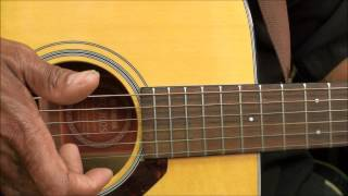 Merle Travis Style Easy Finger Picking C Chord Exercise Lesson Tutorial EricBlackmonMusicHD