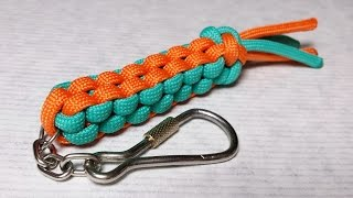 Square (Box) Stitch paracord keychain, Scoobie - How to