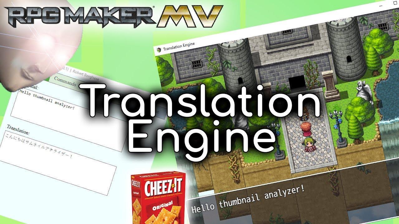 Translation Engine Plugin Rpg Maker Mv Youtube