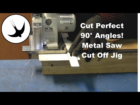 Metal saw cut off jig - Get perfect 90° cuts in angle, box section and strap steel