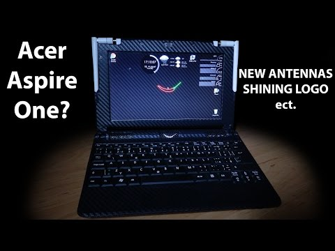 MODDING NOTEBOOK - custom glowing logo,  new wifi antennas ect. (part 1/3)