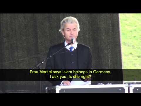 Geert Wilders speaks at PEGIDA in Dresden April 13 2015