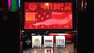 VGT Slots Star Spangled Sevens Progressive $3 Max Triple The Money Choctaw Gambling Casino