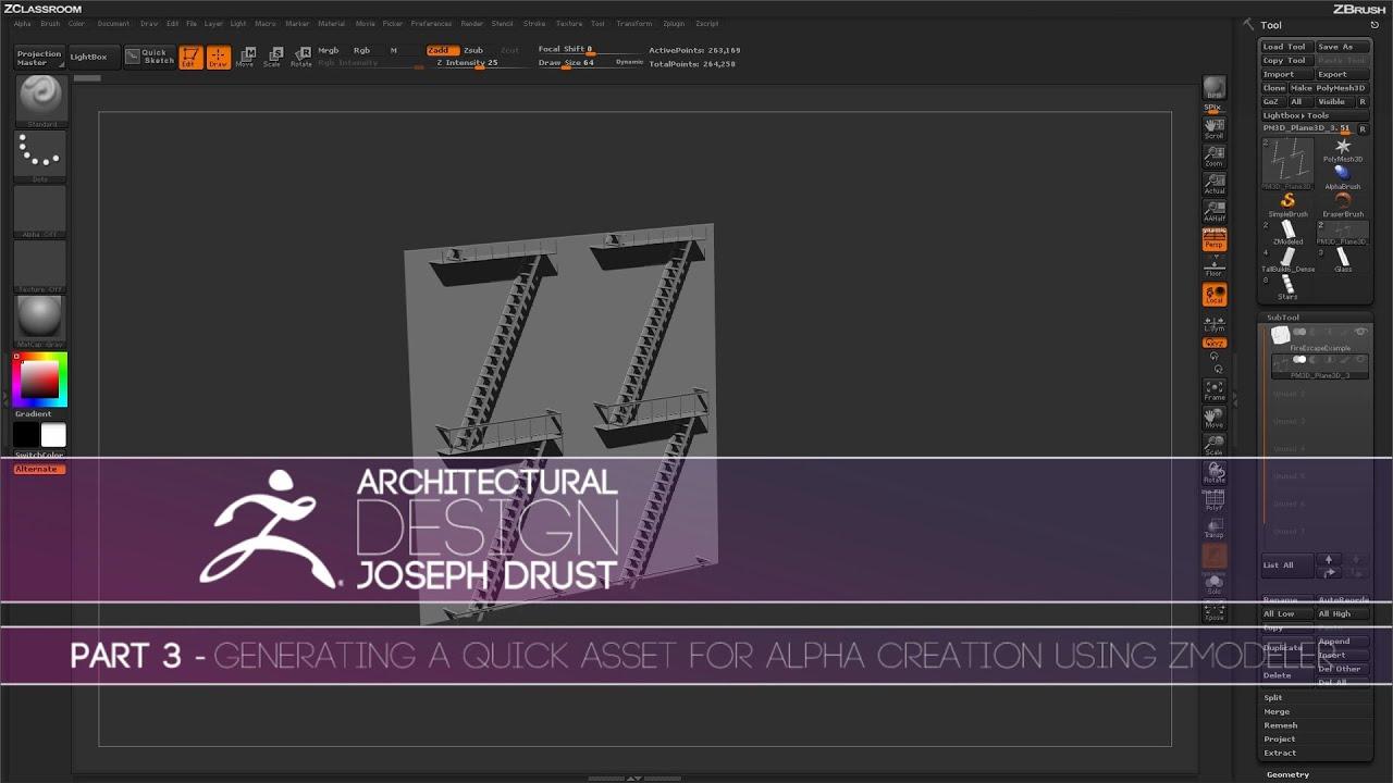ZBrush Architectural Design   Part 3