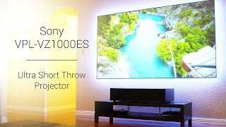 Sony HDR Ultra Short Throw Projector VPL-VZ1000ES and Zero Edge Short Throw Projection Screen