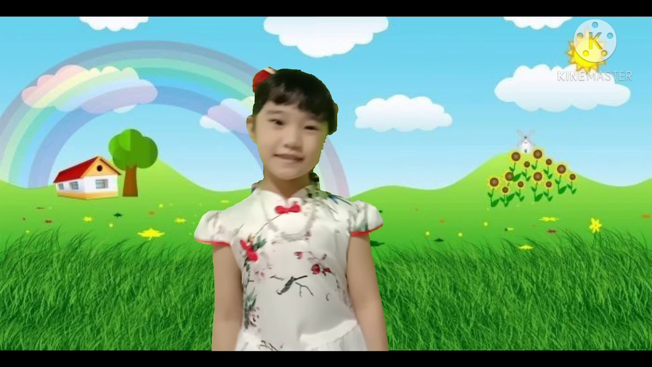 wu zi ge -- cover by Kimberly #wuzhige #kidsong #coverwuzhige