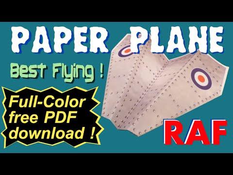 PAPER PLANE - Full Color - FREE pdf download for LASER print - RAF -