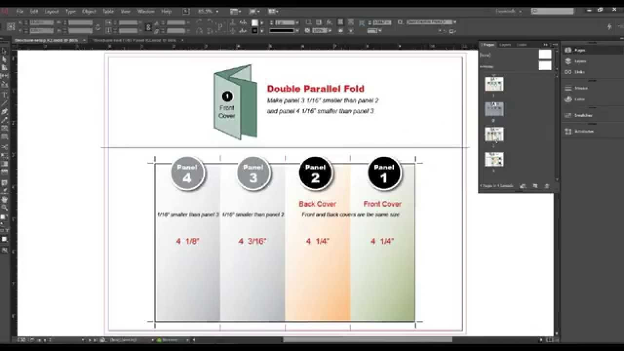InDesign Creative Cloud Tutorial: How to Set Up Folding Panel Widths ...