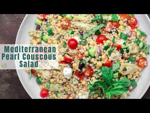 Best Mediterranean Pearl Couscous Salad | The Mediterranean Dish