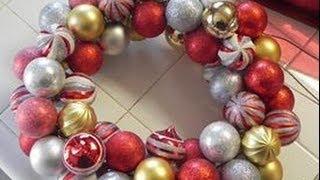 Como hacer una Corona de Esferas - Manera Facil y Economica- DIY- NuestraCasa2013