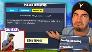 A Twitch streamer ACCUSED me of hacking on Fortnite LIVE...